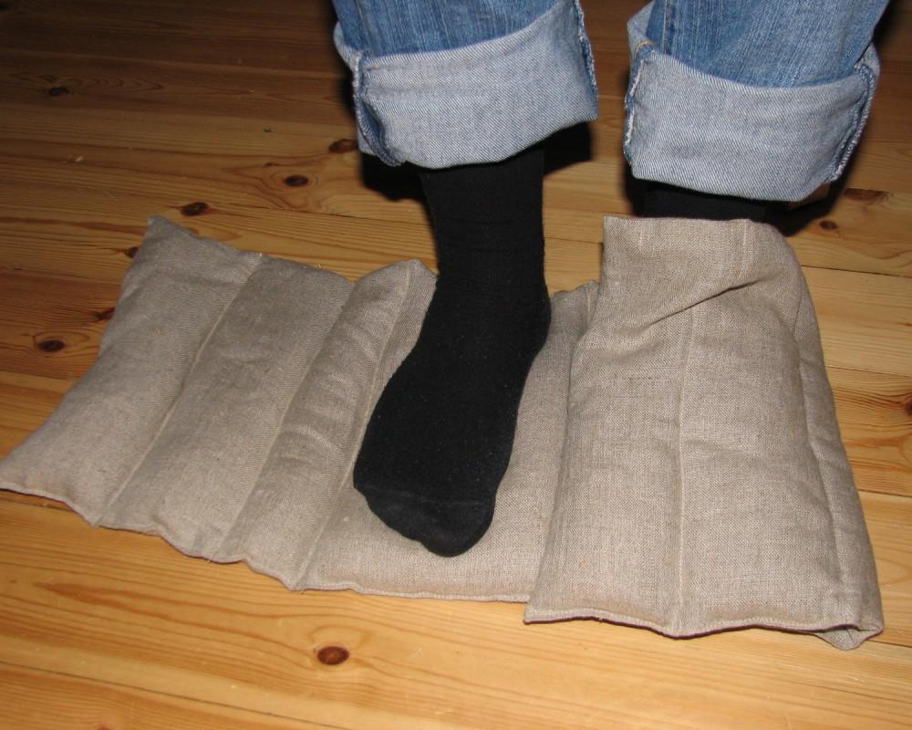 Lysts vetekudde med vikning för fot och hand
