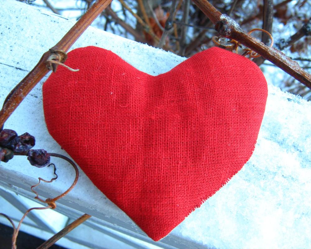 Lyst vetehjärta röd