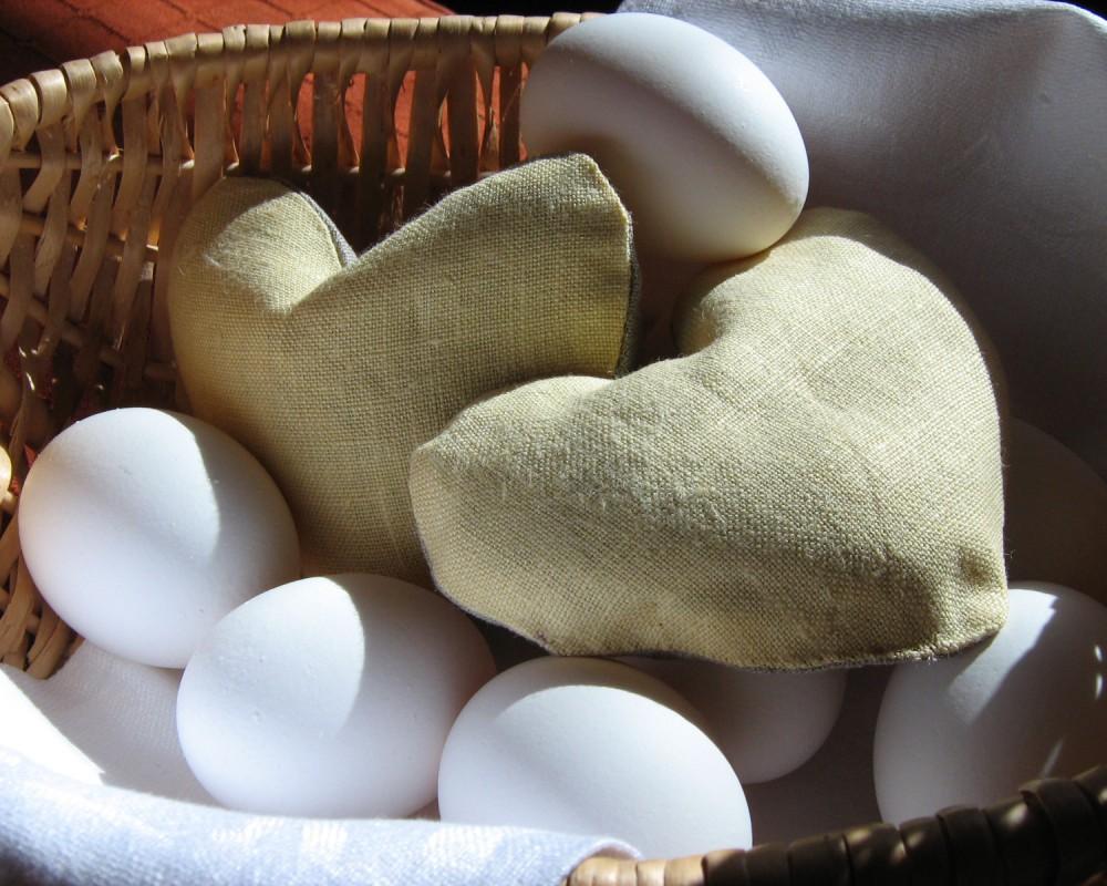 Vetehjärta i äggkorgen